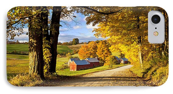 Autumn Farm In Vermont IPhone Case by Brian Jannsen