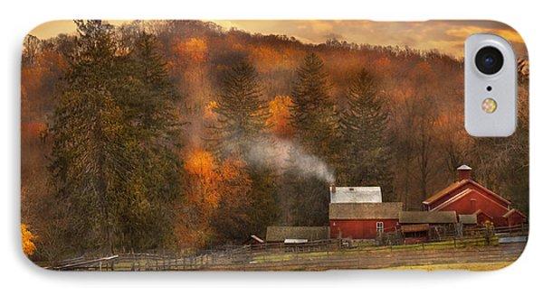 Autumn - Farm - Morristown Nj - Charming Farming Phone Case by Mike Savad