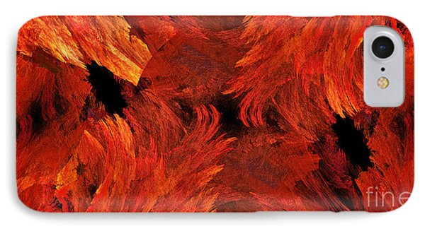 Autumn Fire Abstract Pano 1 IPhone Case