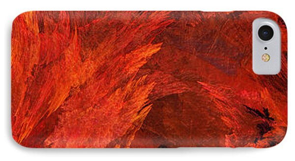 Autumn Fire Abstract Pano 2 Phone Case by Andee Design