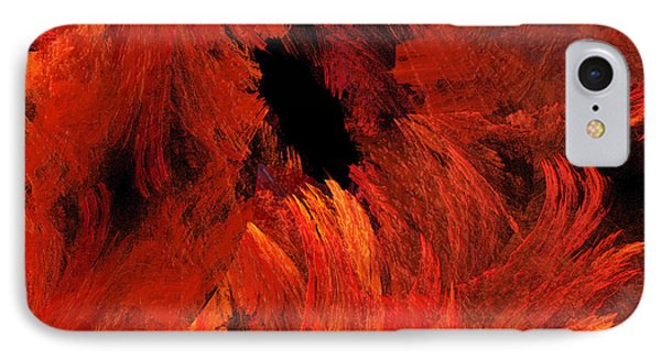 Autumn Fire Abstract Square Phone Case by Andee Design