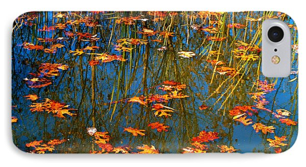 IPhone Case featuring the photograph Autumn  Floating by Peggy Franz