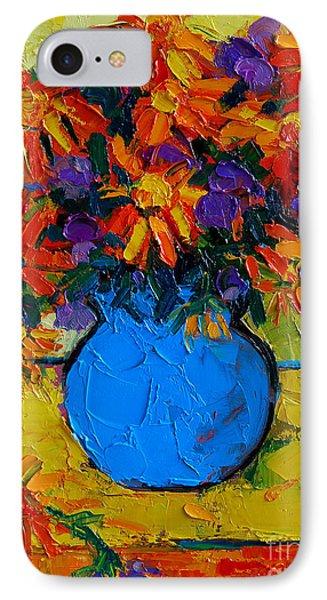 Autumn Flowers IPhone Case by Mona Edulesco