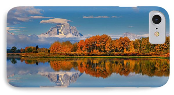 Autumn Foliage At The Oxbow IPhone Case by Greg Norrell
