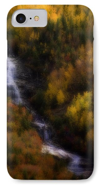 IPhone Case featuring the photograph Autumn Forest Falls by Ellen Heaverlo