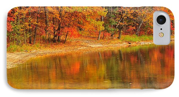 Autumn Forest Reflection IPhone Case by Terri Gostola