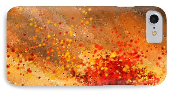 Autumn-four Seasons- Four Seasons Art IPhone Case by Lourry Legarde