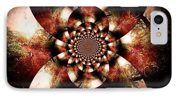 Autumn Fractal Abstract Phone Case by Maggie Vlazny