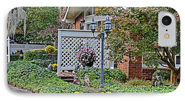 IPhone Case featuring the photograph Autumn Garden by Linda Brown