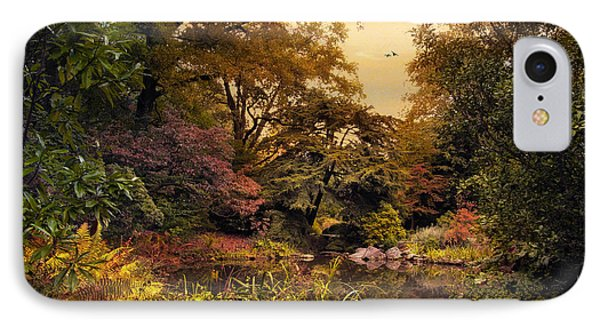 Autumn Garden Sunset Phone Case by Jessica Jenney