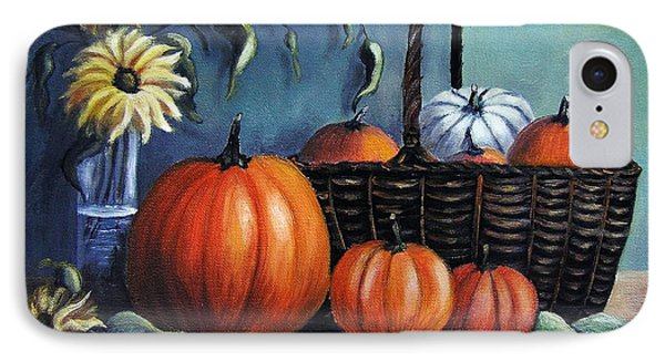 IPhone Case featuring the painting Autumn Gifts by Vesna Martinjak