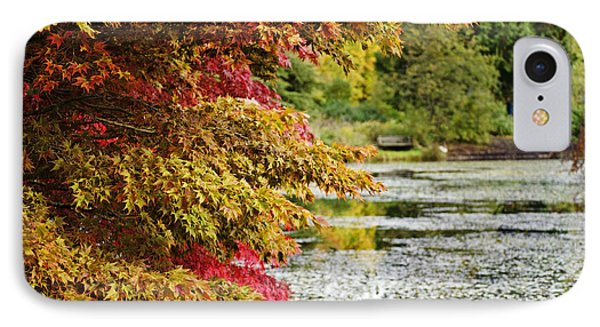 IPhone Case featuring the photograph Autumn Glory By The Pond by Maria Janicki