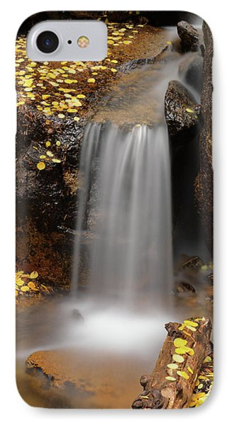 Autumn Gold And Waterfall Phone Case by Leland D Howard