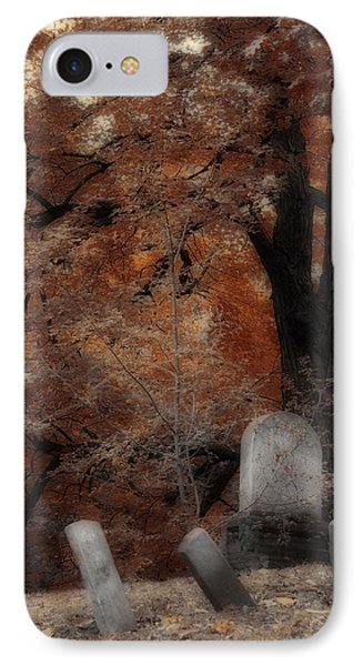 Autumn Graveyard IPhone Case by Gothicrow Images