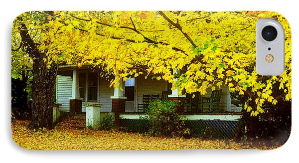IPhone Case featuring the photograph Autumn Homestead by Rodney Lee Williams