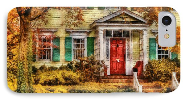 Autumn - House - Local Suburbia Phone Case by Mike Savad