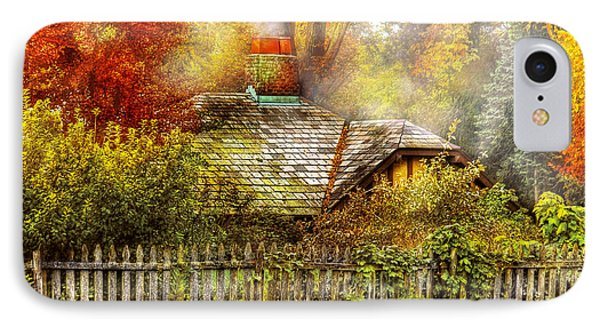 Autumn - House - On The Way To Grandma's House Phone Case by Mike Savad
