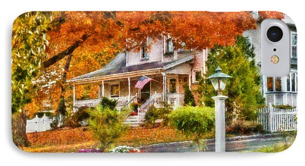 Autumn - House - The Beauty Of Autumn IPhone Case by Mike Savad