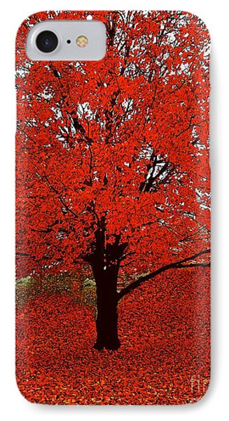Red Tree Impressions #1 Red IPhone Case