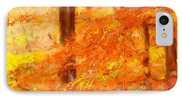 Autumn Impressions IPhone Case by Lourry Legarde