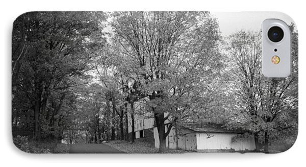 IPhone Case featuring the photograph Autumn In Black And White by Phil Abrams