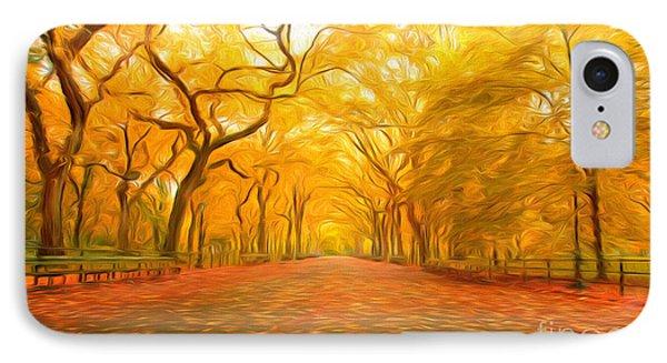 Autumn In Central Park IPhone Case by Veikko Suikkanen