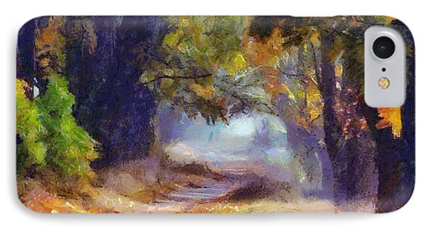 IPhone Case featuring the painting Autumn In Forest by Georgi Dimitrov