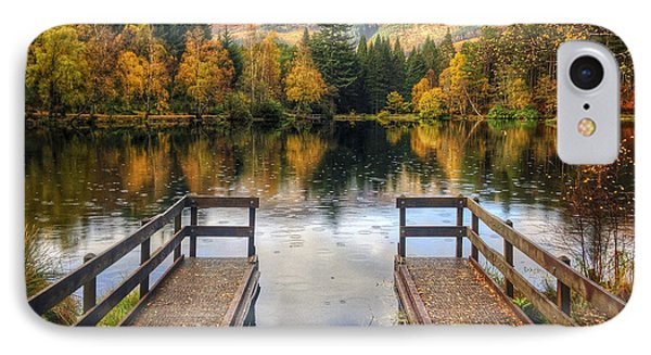 Autumn In Glencoe Lochan IPhone Case by Dave Bowman