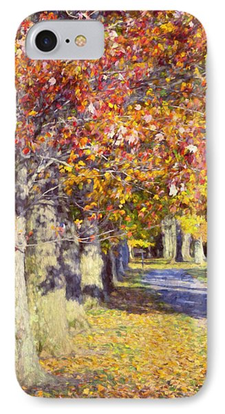 Autumn In Hyde Park IPhone Case by Joan Carroll