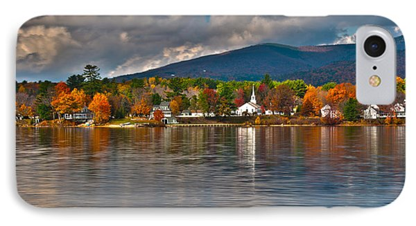 Autumn In Melvin Village IPhone Case by Brenda Jacobs