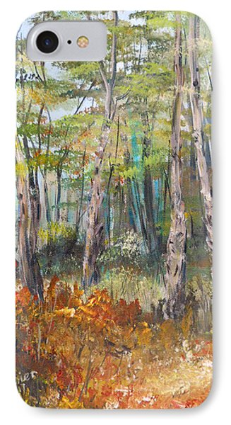 Autumn In The Forest IPhone Case by Dorothy Maier