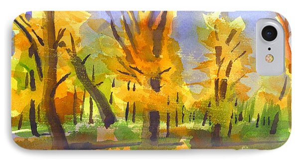 Autumn In The Forest Phone Case by Kip DeVore