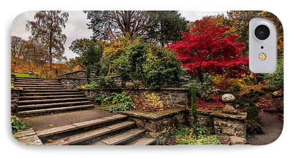 Autumn In The Garden IPhone Case by Adrian Evans