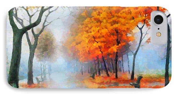 Autumn In The Morning Mist IPhone Case by Georgiana Romanovna