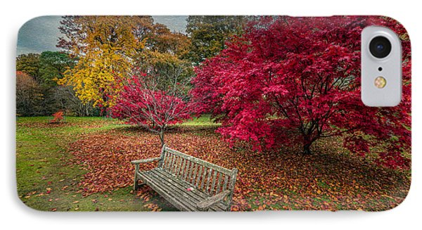 Autumn In The Park IPhone Case by Adrian Evans