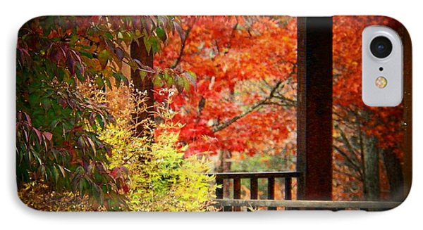 Autumn In The Park IPhone Case by Joyce Kimble Smith