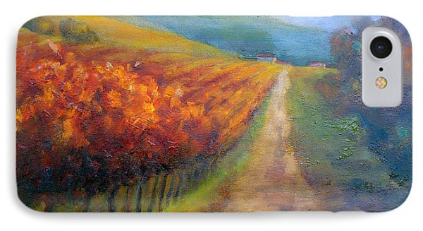 Autumn In The Vineyard Phone Case by Carolyn Jarvis