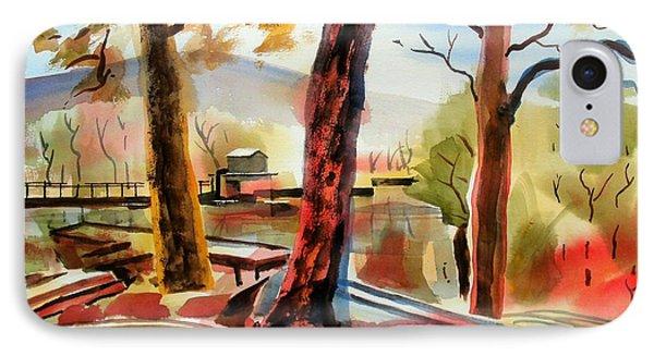 Autumn Jon Boats I Phone Case by Kip DeVore