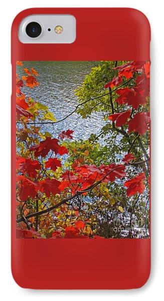 Autumn Lake IPhone Case by Ann Horn