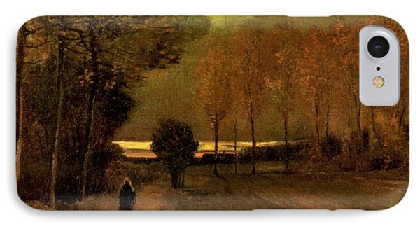 Autumn Landscape At Dusk 1885 Phone Case by Vincent Van Gogh