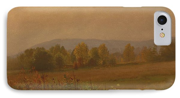 Autumn Landscape New England IPhone Case by Albert Bierstadt
