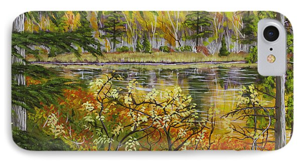 Autumn Landscape In Kennebec Highlands Of Maine IPhone Case by Keith Webber Jr
