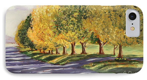 Autumn Lane IPhone Case by Alan Mager