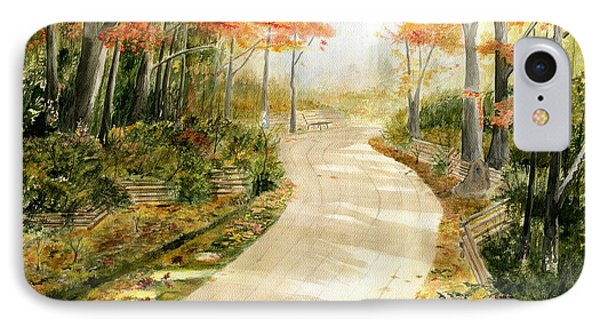 Autumn Lane Phone Case by Melly Terpening