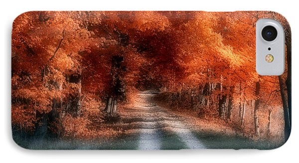 Autumn Lane Phone Case by Tom Mc Nemar