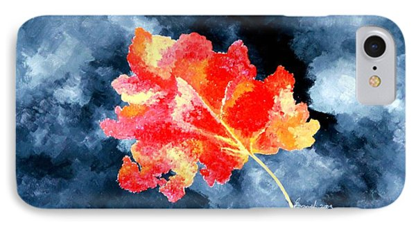 IPhone Case featuring the painting Autumn Leaf by Thomas Gronowski