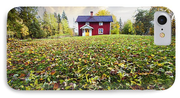 Autumn Leaves And Colors In Old Rural Nature IPhone Case by Christian Lagereek