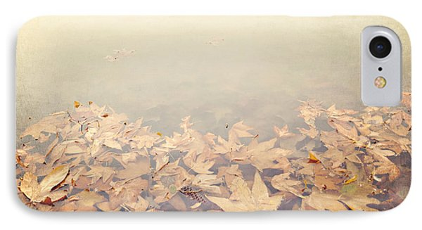 Autumn Leaves Floating In The Fog Phone Case by Angela A Stanton
