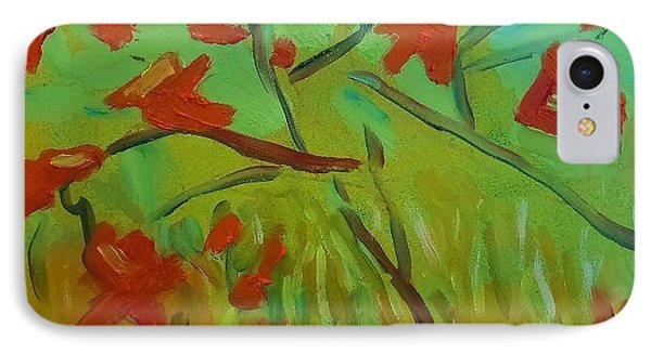 IPhone Case featuring the painting Autumn Leaves by Francine Frank
