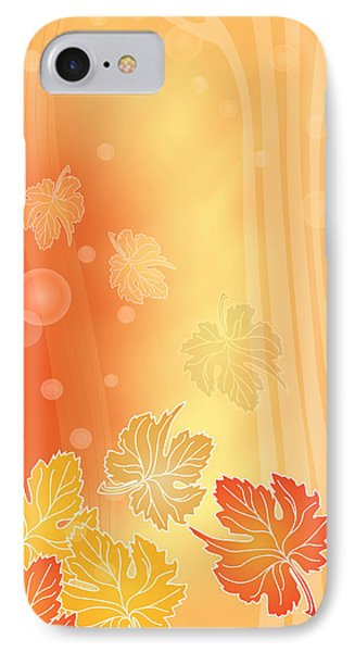 Autumn Leaves Phone Case by Gayle Odsather